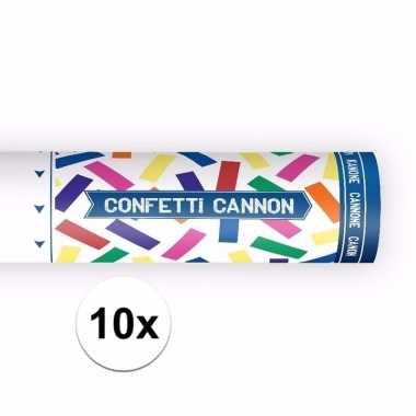 10x confetti shooters kleuren mix 20 cm