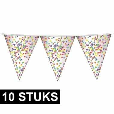 10x confetti versiering vlaggenlijn 10 meter