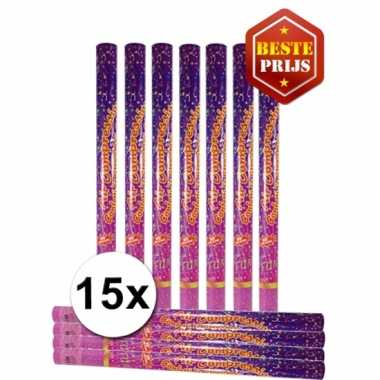 15 party confetti shooters 80 cm