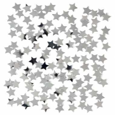 2 x stuks zilveren sterren confetti zakje 15 gram