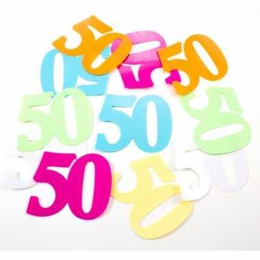 24x mega confetti 50 jaar gekleurd
