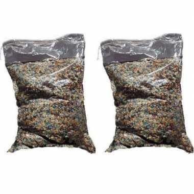 2x confetti snippers ca. 5 kilo