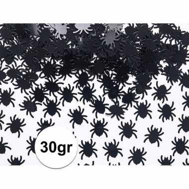 30 gram spinnetjes confetti zwart