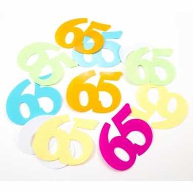 36x mega confetti 65 jaar gekleurd