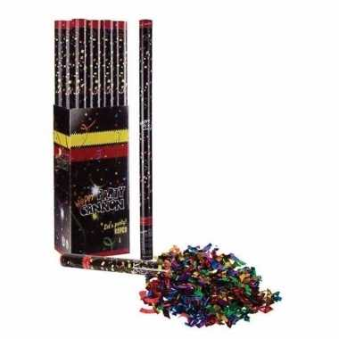 3x confetti shooters multi color 40 cm