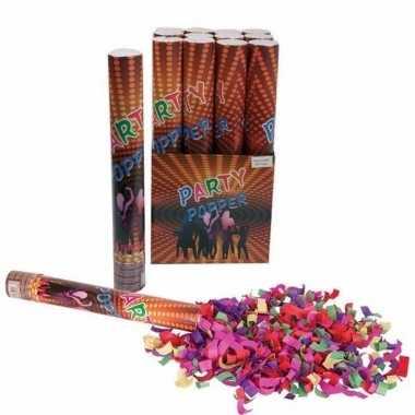 3x confetti shooters multi-color 40 cm