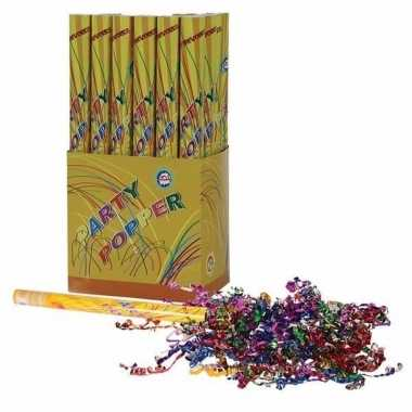 3x confetti shooters multi-color 50 cm