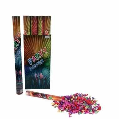 3x confetti shooters multi-color 60 cm