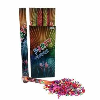 3x confetti shooters multi-color 80 cm