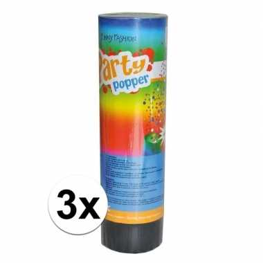 3x feest poppers 15 cm