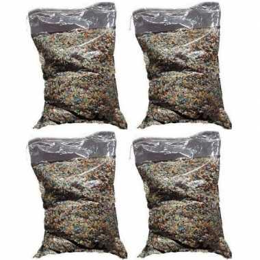 4x confetti snippers ca. 5 kilo