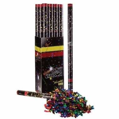6x confetti shooters multi color 80 cm