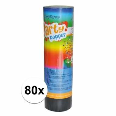 80x feest poppers 15 cm