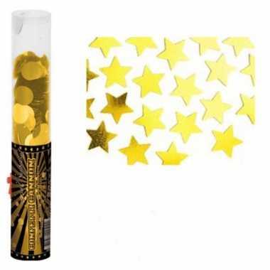 Confetti popper goud