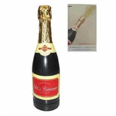 Confettie kanon champagne voor oud en nieuw