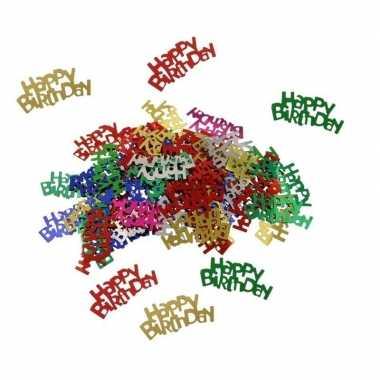 Happy birthday decoratie confetti 30 gram