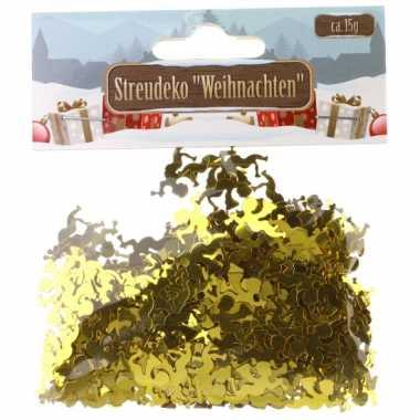 Kerst deco confetti gouden engeltjes glimmend 15 gram