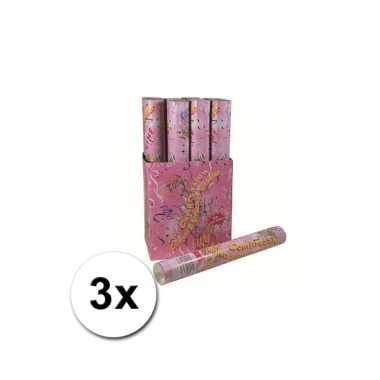 Party confetti kanonnen bruiloft 40 cm 3x
