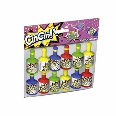 Party poppers 12 stuks
