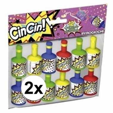 Party poppers 2x 12 stuks