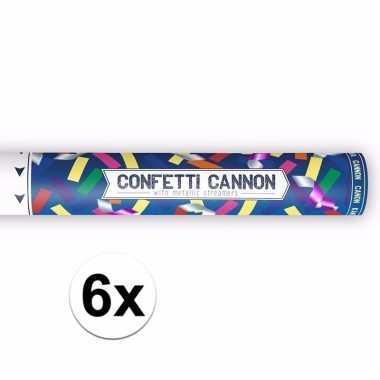 Set van confetti shooters metallic kleuren mix 40 cm