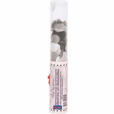 Zilveren confetti glitters kanon