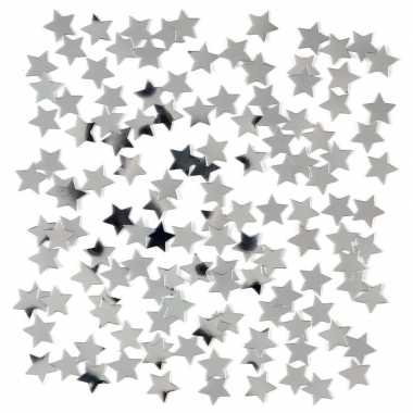 Zilveren sterren confetti zakje 15 gram