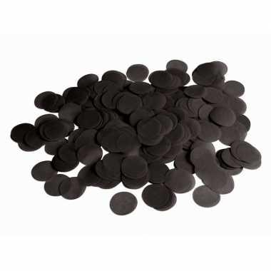 Zwarte papieren confetti 44 gram