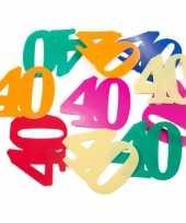 24x mega confetti 40 jaar gekleurd