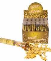 6x confetti shooters goud 20 cm 10133366