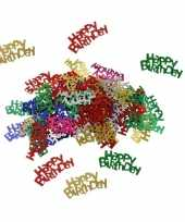 Happy birthday decoratie confetti 30 gram