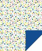 Inpakpapier cadeaupapier confetti 200 x 70 cm gekleurd