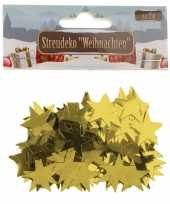 Kerst deco confetti gouden sterretjes glimmend 15 gram