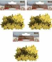 Kerst deco confetti gouden sterretjes glimmend 45 gram