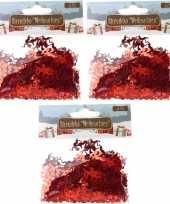 Kerst deco confetti rode engeltjes glimmend 45 gram